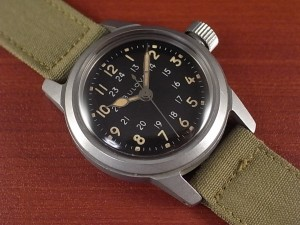 ブローバ 軍用時計 米軍 MIL-W-3818A ニアミント 1950年代