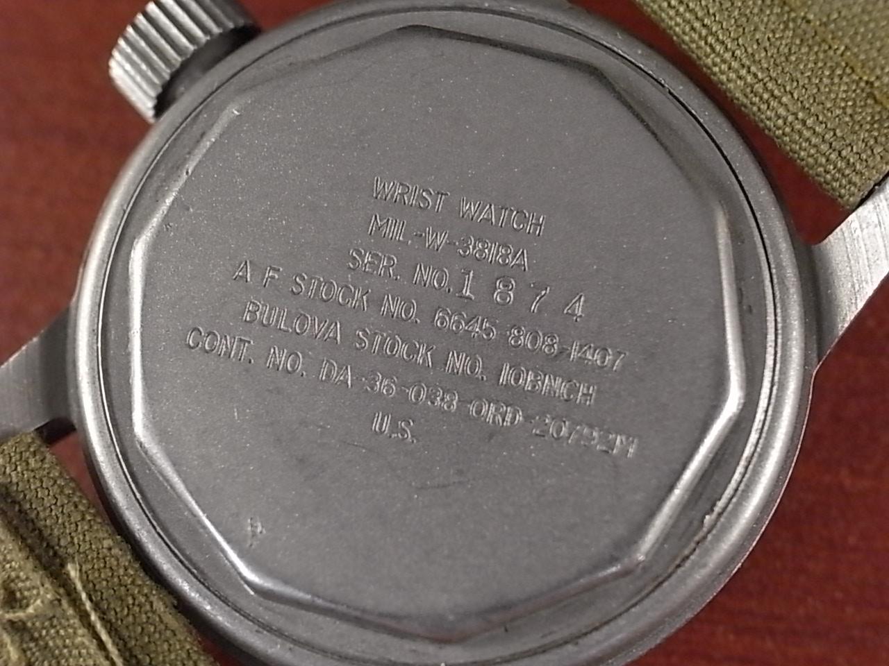 ブローバ 軍用時計 米軍 MIL-W-3818A ニアミント 1950年代の写真4枚目