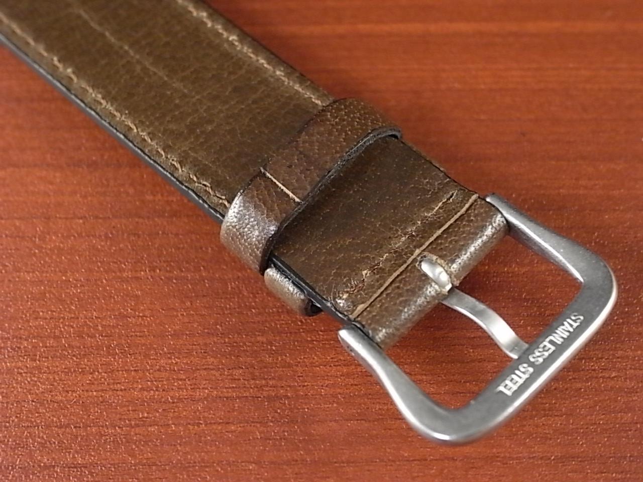 バッファロー 革ベルト グレイッシュブラウン 16mm オリジナル CBB-001aの写真4枚目