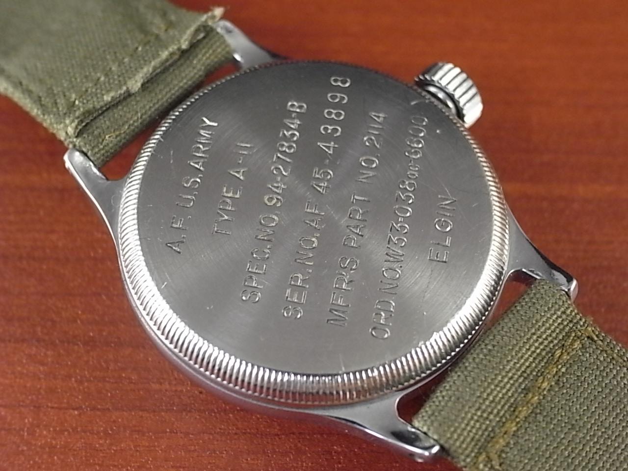 エルジン ミリタリー アメリカ陸軍航空隊 タイプA-11 24時間時計 1940年代の写真4枚目
