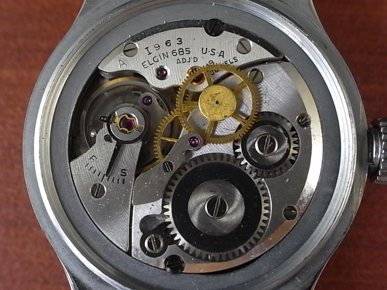 エルジン ミリタリー アメリカ陸軍航空隊 タイプA-11 24時間時計 1940年代の写真5枚目