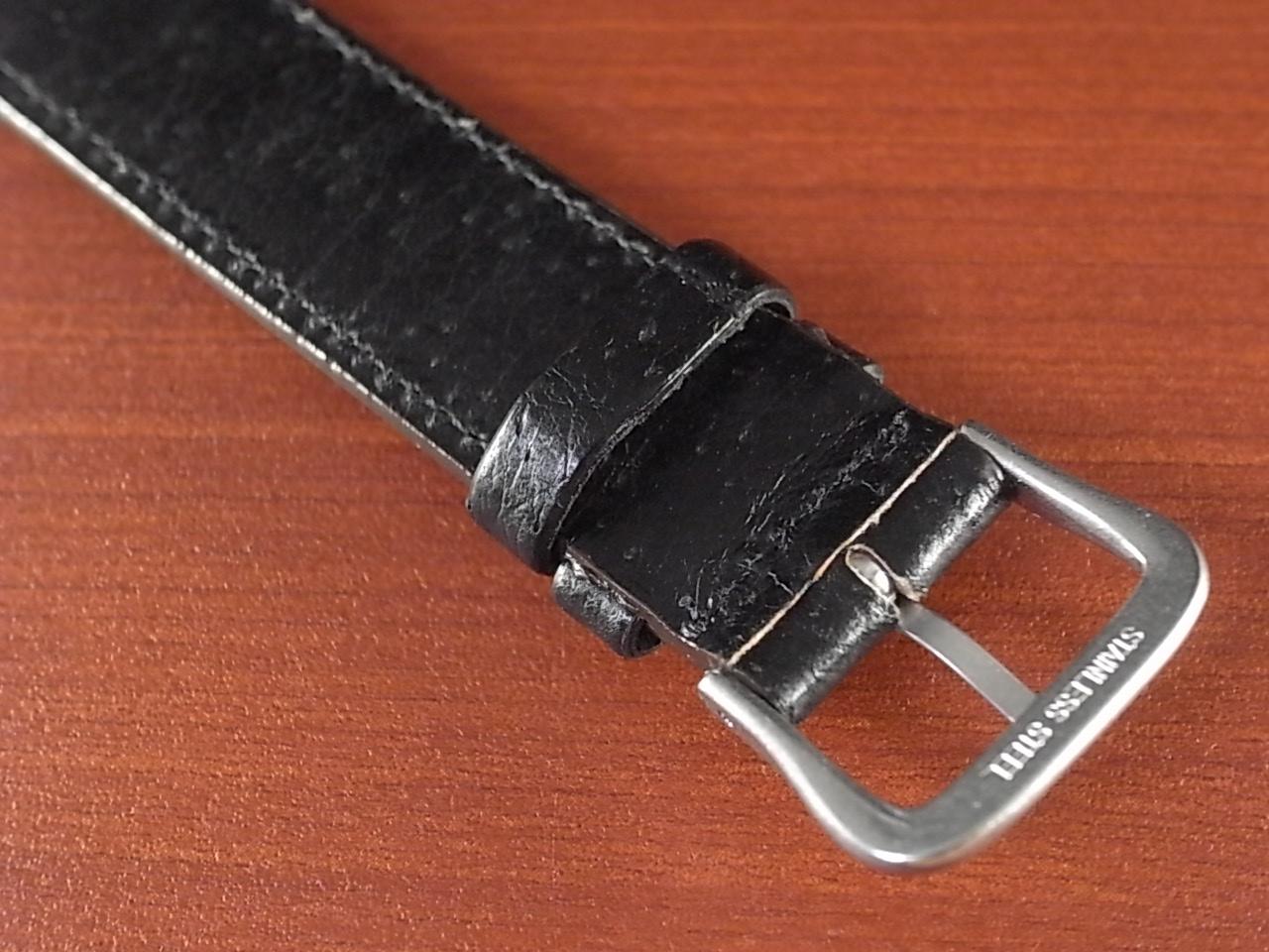 ピッグ革ベルト オープンエンド 黒 16、18mm CSA-001bの写真4枚目