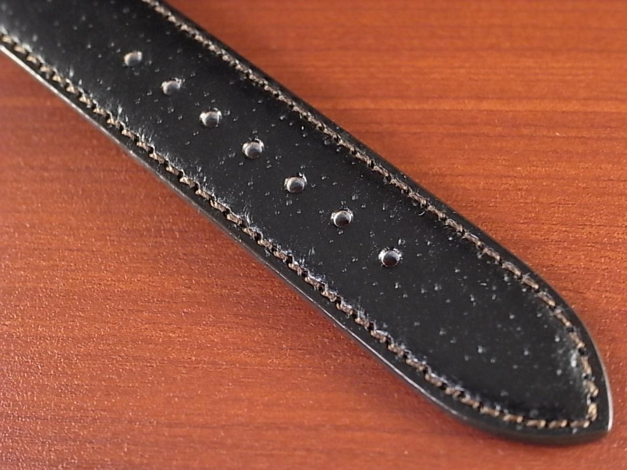 ピッグ革ベルト オープンエンド 黒 16、18mm CSA-001bの写真5枚目