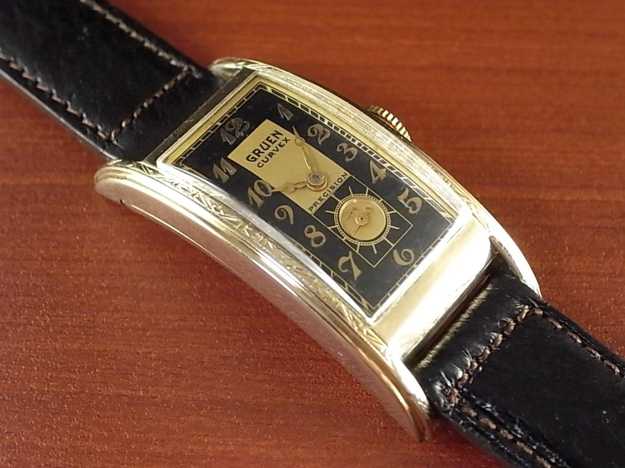 グリュエン カーベックス Cal.330 2トーンダイアル ブラック/ゴールド 1930年代のメイン写真