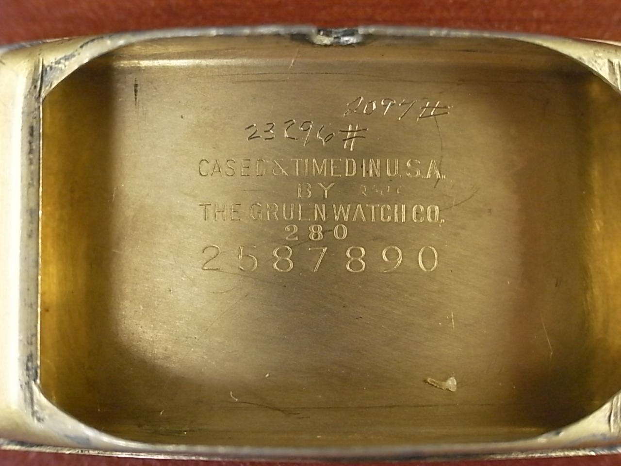 グリュエン カーベックス Cal.330 2トーンダイアル ブラック/ゴールド 1930年代の写真6枚目