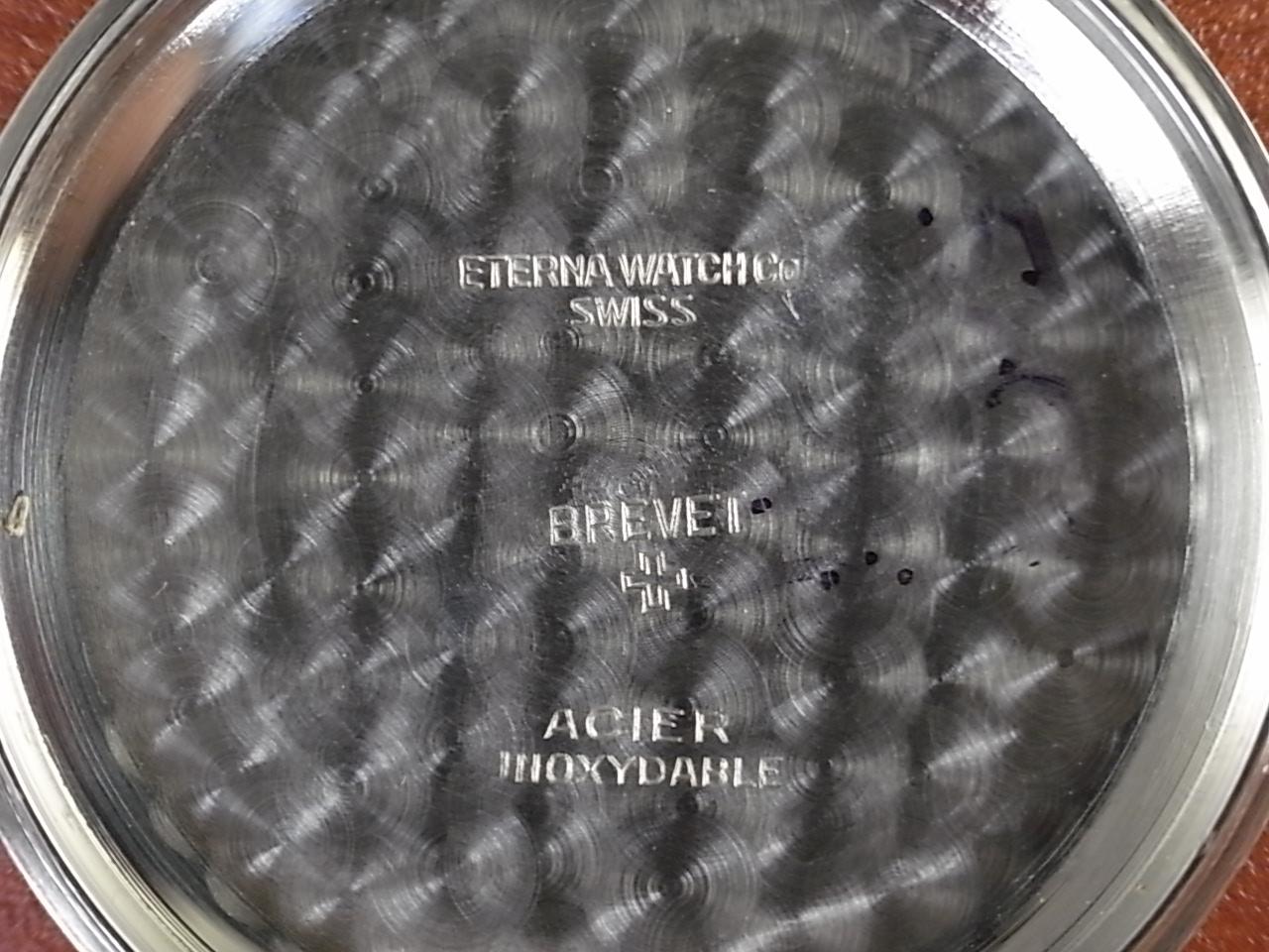 エテルナ ラージクッションケース ブラックミラーダイアル 1940年代の写真6枚目
