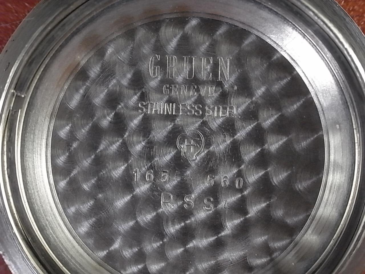 グリュエン ダイバーズウォッチ ブラックミラーダイアル 1950年代の写真6枚目
