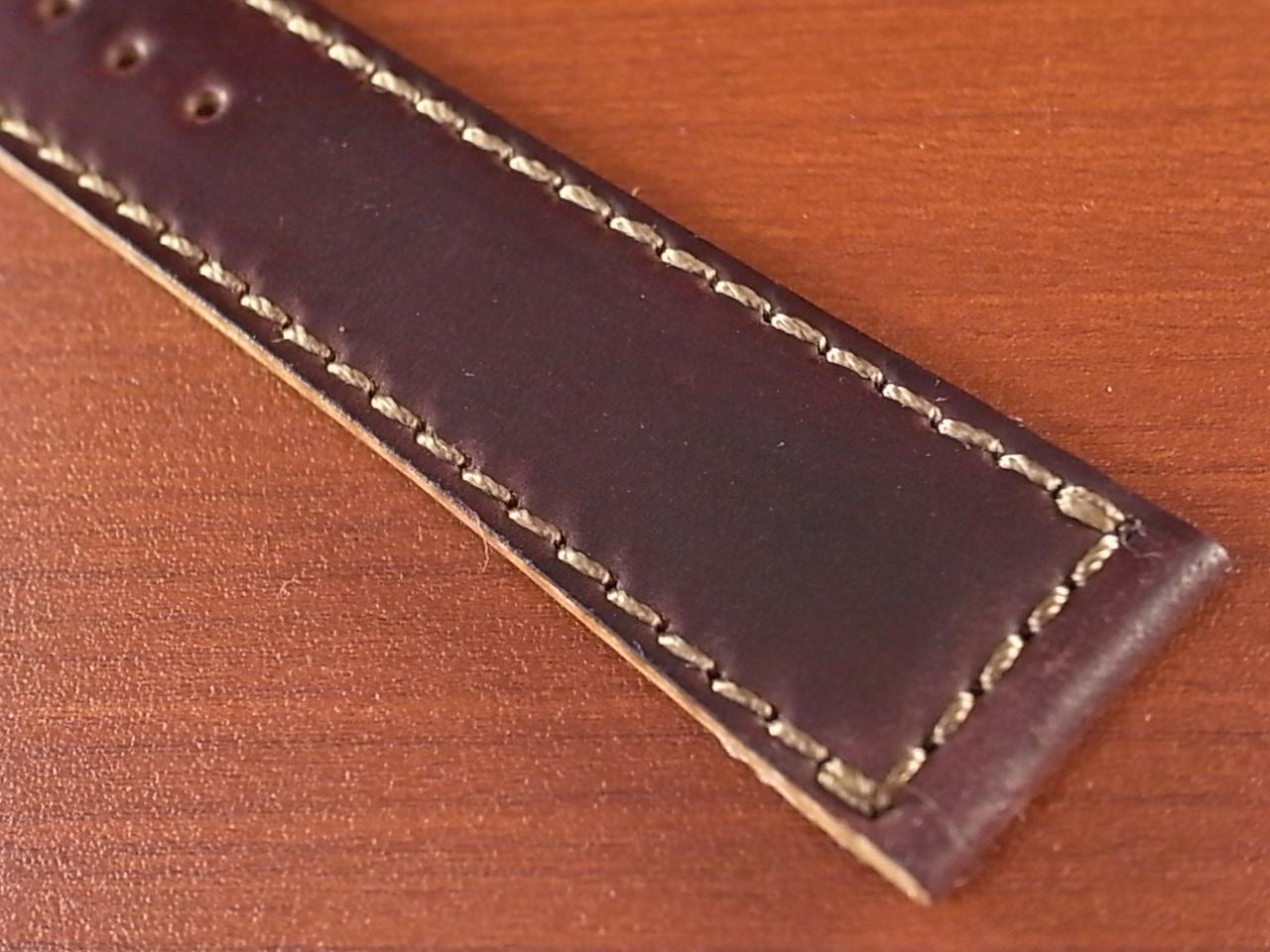 ホーウィン コードバン レギュラーB バーガンディ 20mmの写真5枚目