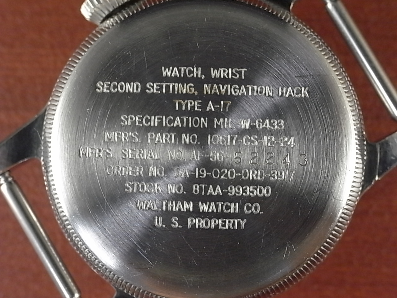 ウォルサム ミリタリー アメリカ軍 タイプA-17 1950年代の写真4枚目