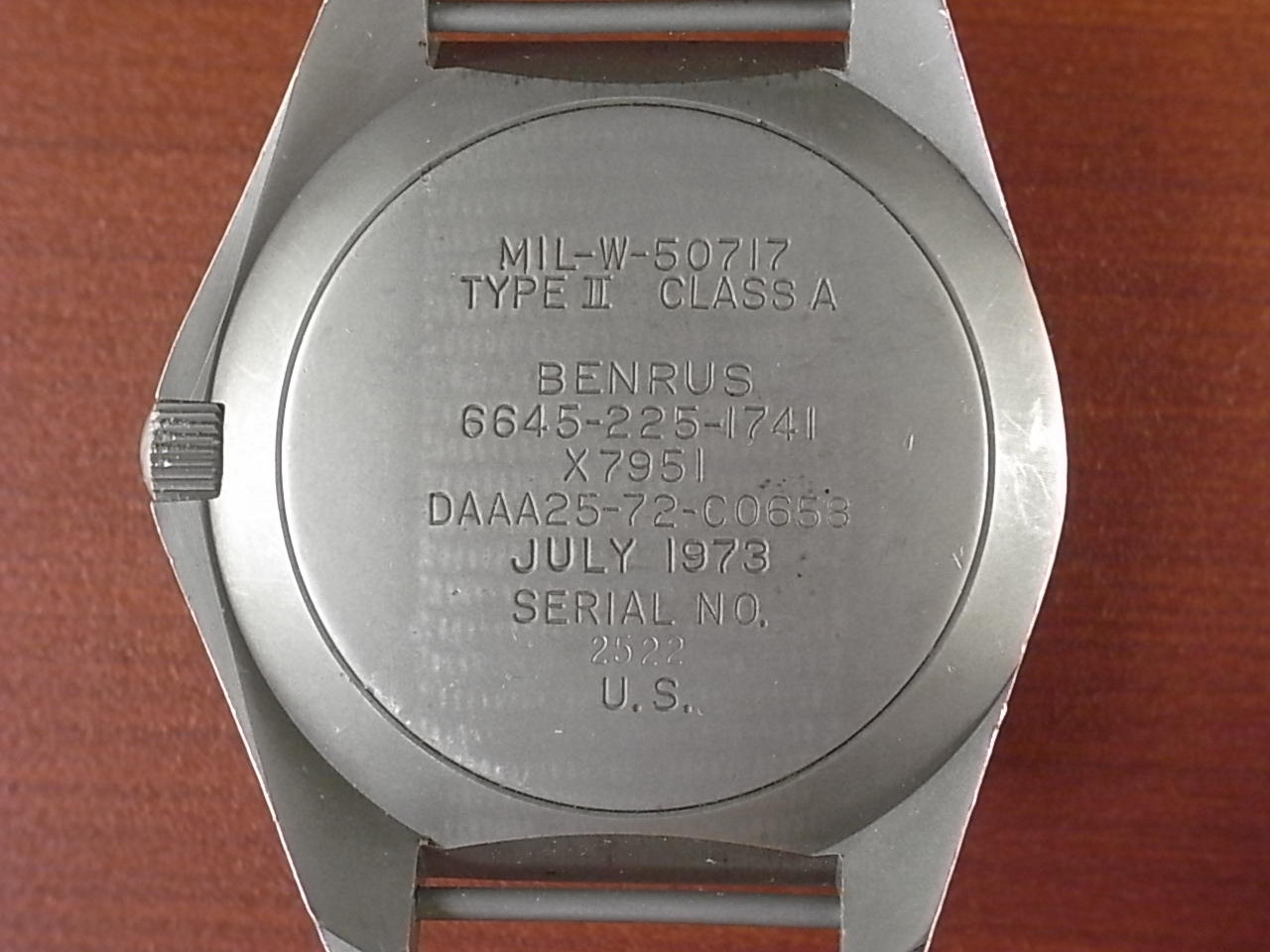 ベンラス ミリタリー タイプⅡクラスA 特殊部隊ダイバーズウォッチ 1970年代の写真4枚目