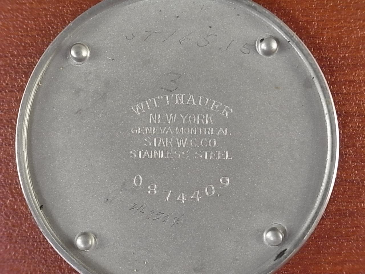 ウィットナー センターセコンド 24H表記 スクリューバック 1940年代の写真6枚目