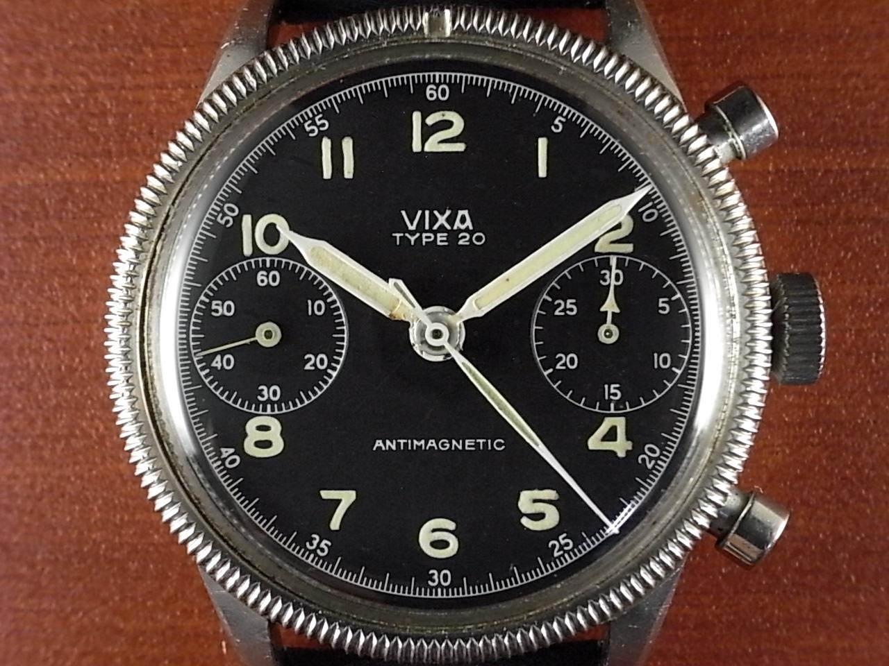 VIXA ヴィクサ ミリタリー タイプ20 フランス空軍 フライバッククロノグラフ 1950年代の写真2枚目