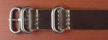 ホーウィン コードバン 引き通し革ベルト ダークコニャック 17~24mm 受注生産