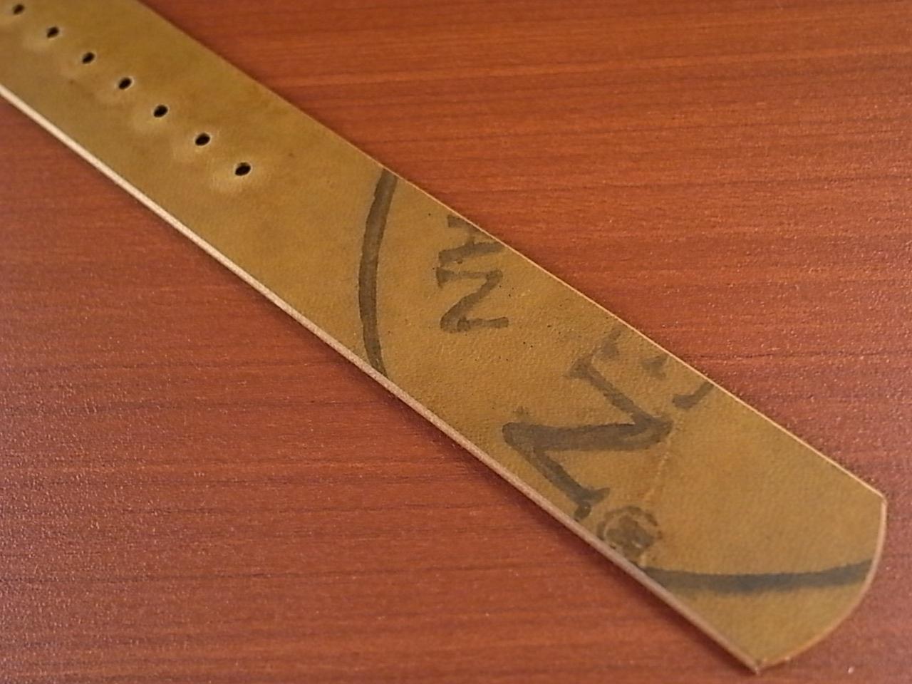 ホーウィン コードバン 引き通し革ベルト ダークコニャック 17~24mm 受注生産の写真6枚目