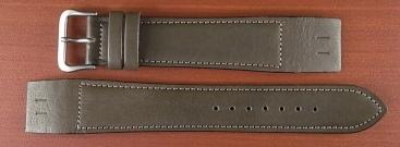 牛(ステア)革ベルト オープンエンド グレー 16、18、20mm オリジナル CC-026b