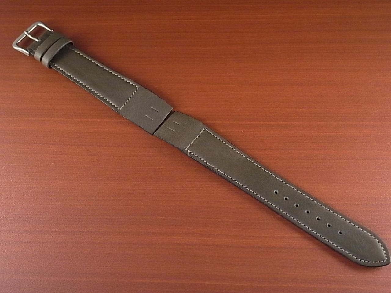牛(ステア)革ベルト オープンエンド グレー 16、18、20mm オリジナル CC-026bのメイン写真
