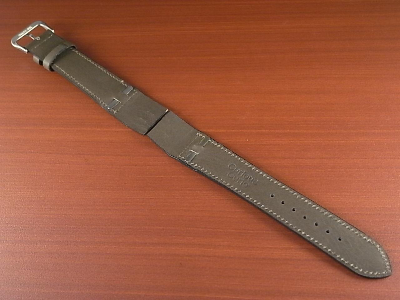 牛(ステア)革ベルト オープンエンド グレー 16、18、20mm オリジナル CC-026bの写真2枚目
