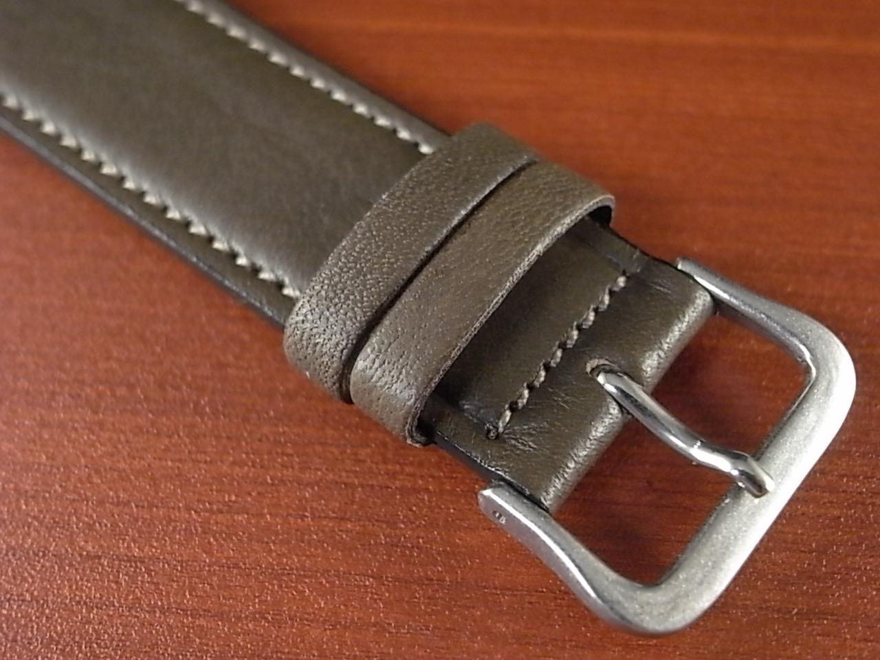 牛(ステア)革ベルト オープンエンド グレー 16、18、20mm オリジナル CC-026bの写真3枚目