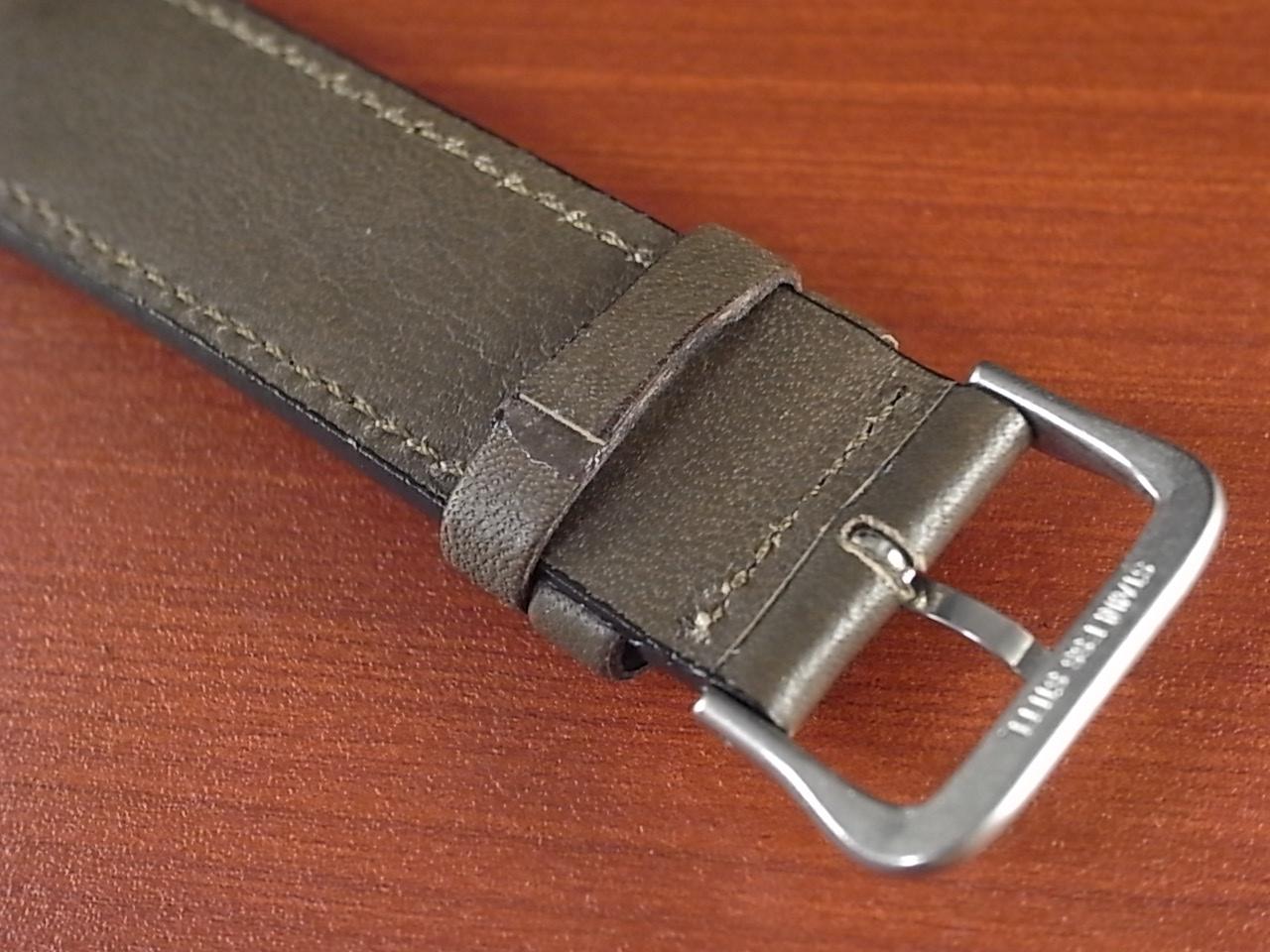 牛(ステア)革ベルト オープンエンド グレー 16、18、20mm オリジナル CC-026bの写真4枚目