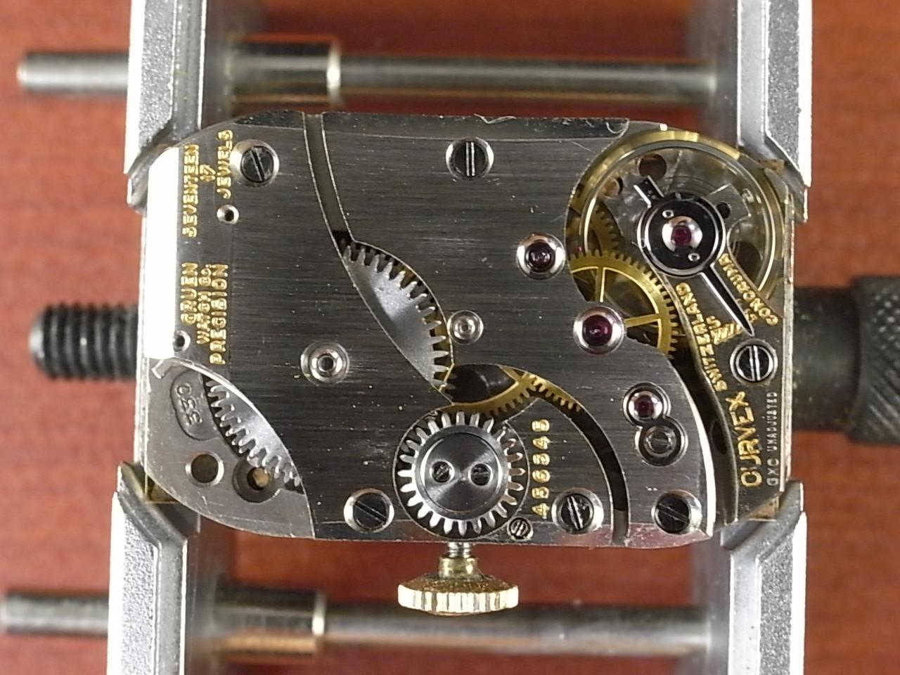 グリュエン カーベックス ブラック/ゴールド 2トーンダイアル Cal.330 1930年代 の写真5枚目