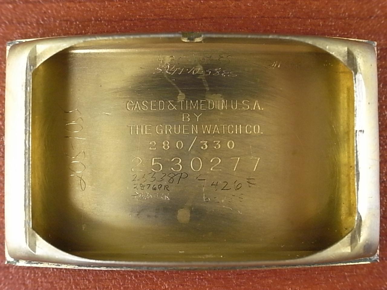 グリュエン カーベックス ブラック/ゴールド 2トーンダイアル Cal.330 1930年代 の写真6枚目