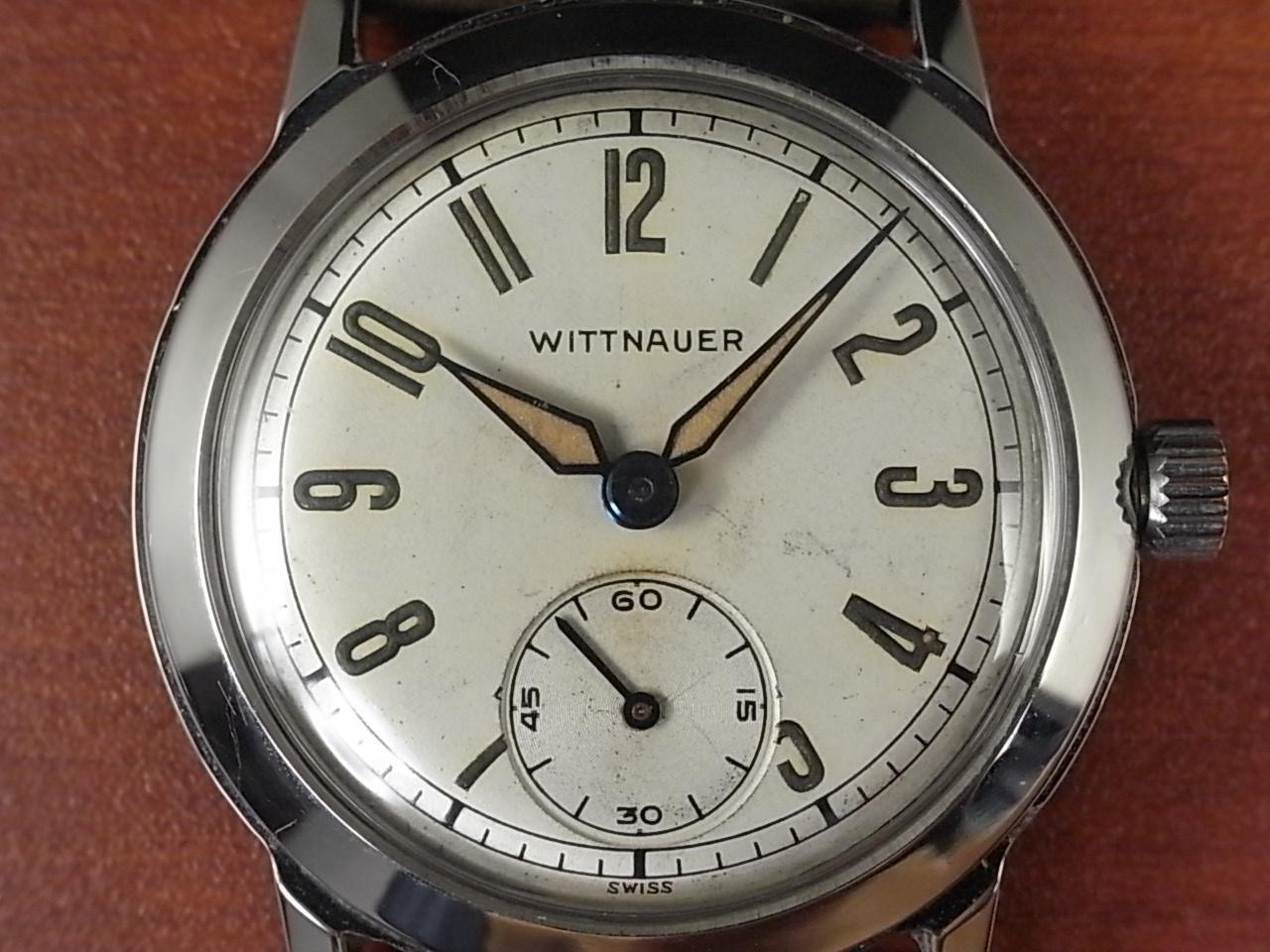 ウィットナー ホワイトダイアル スモールセコンド スクリューバック 1940年代の写真2枚目