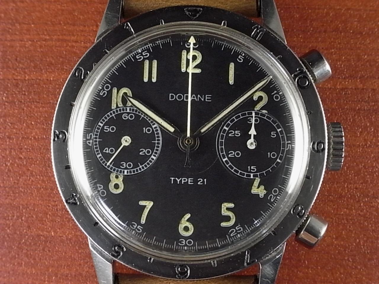 ドダンヌ フランス空軍 タイプ21 フライバッククロノグラフ Cal.222 1960年代の写真2枚目