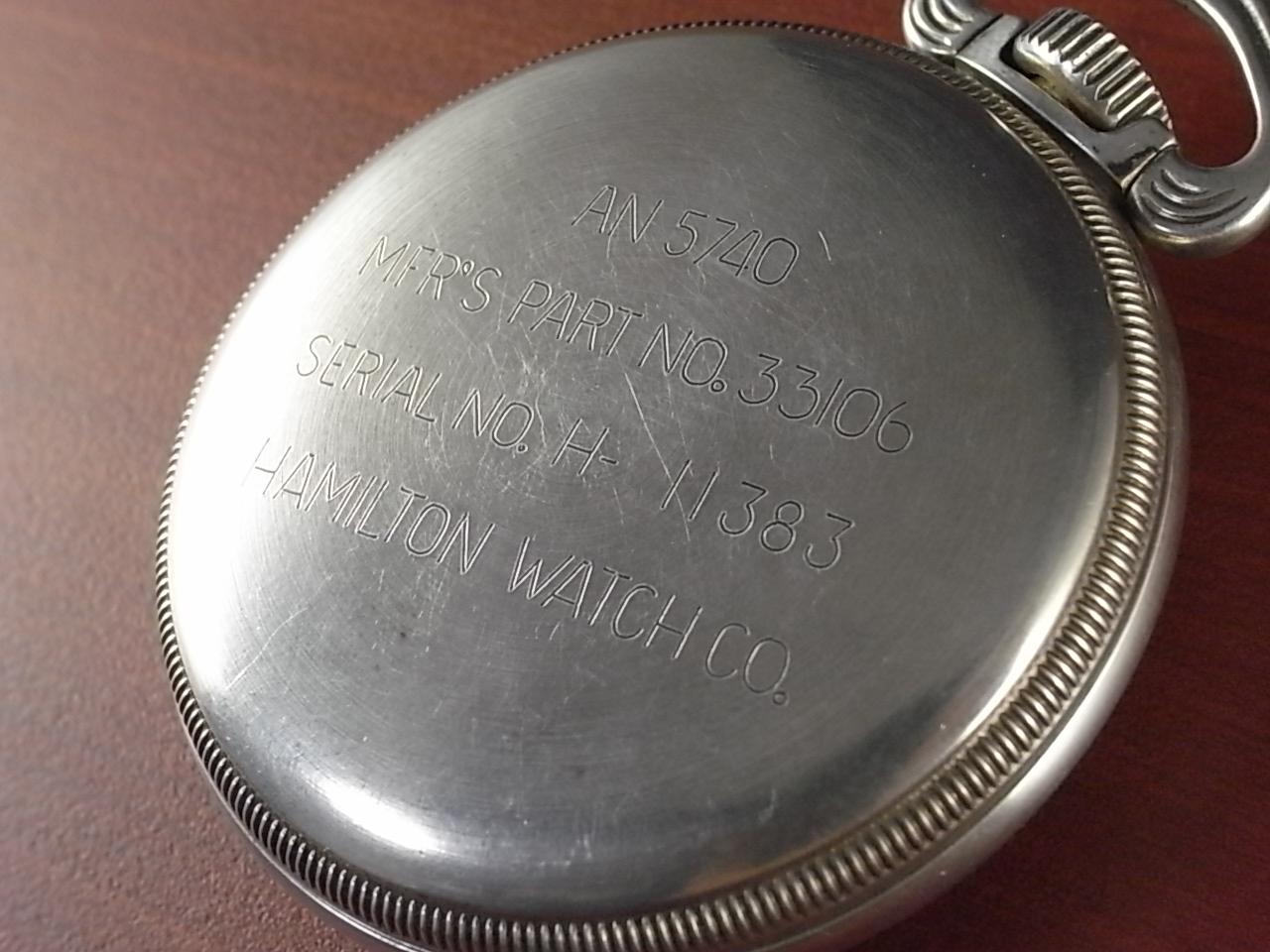 ハミルトン 米軍 ポケットウォッチ シルバーケース AN5740 1940年代の写真4枚目