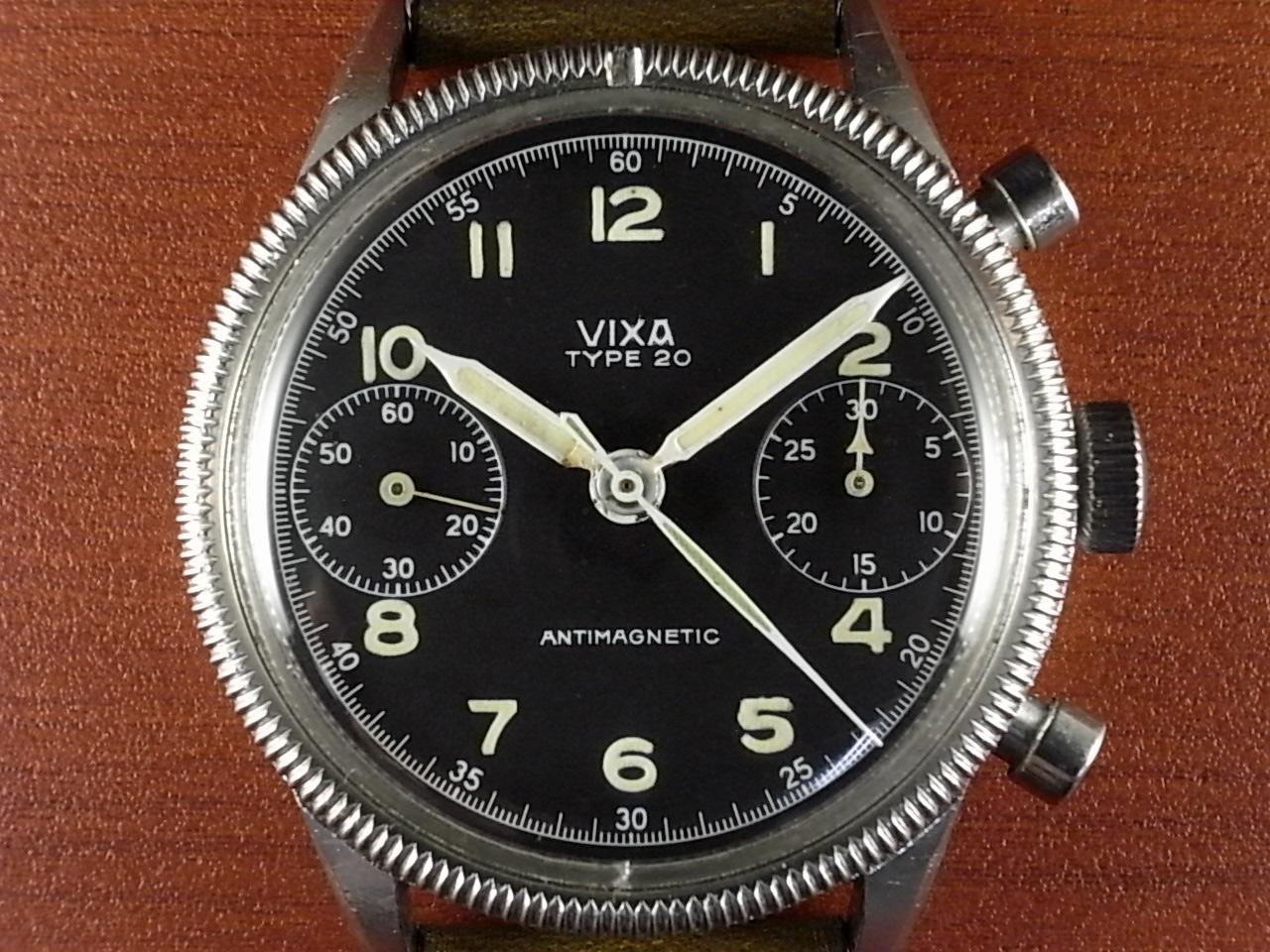 VIXA ヴィクサ タイプ20 フランス空軍 フライバッククロノグラフ 1950年代の写真2枚目