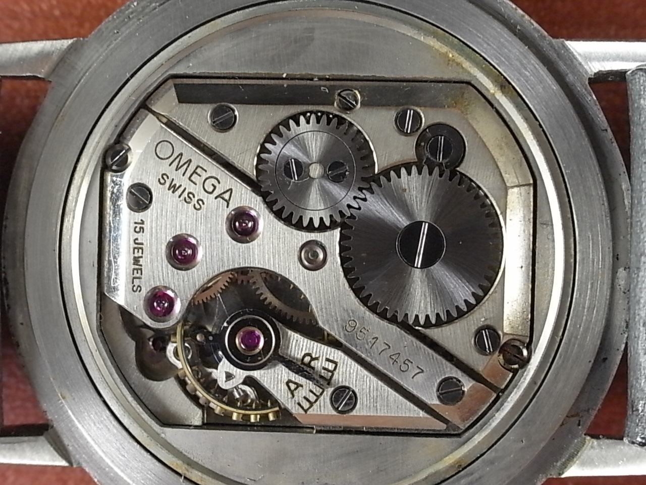 オメガ ブルー/グレー 2トーンダイアル Cal.R17.8 1940年代の写真5枚目