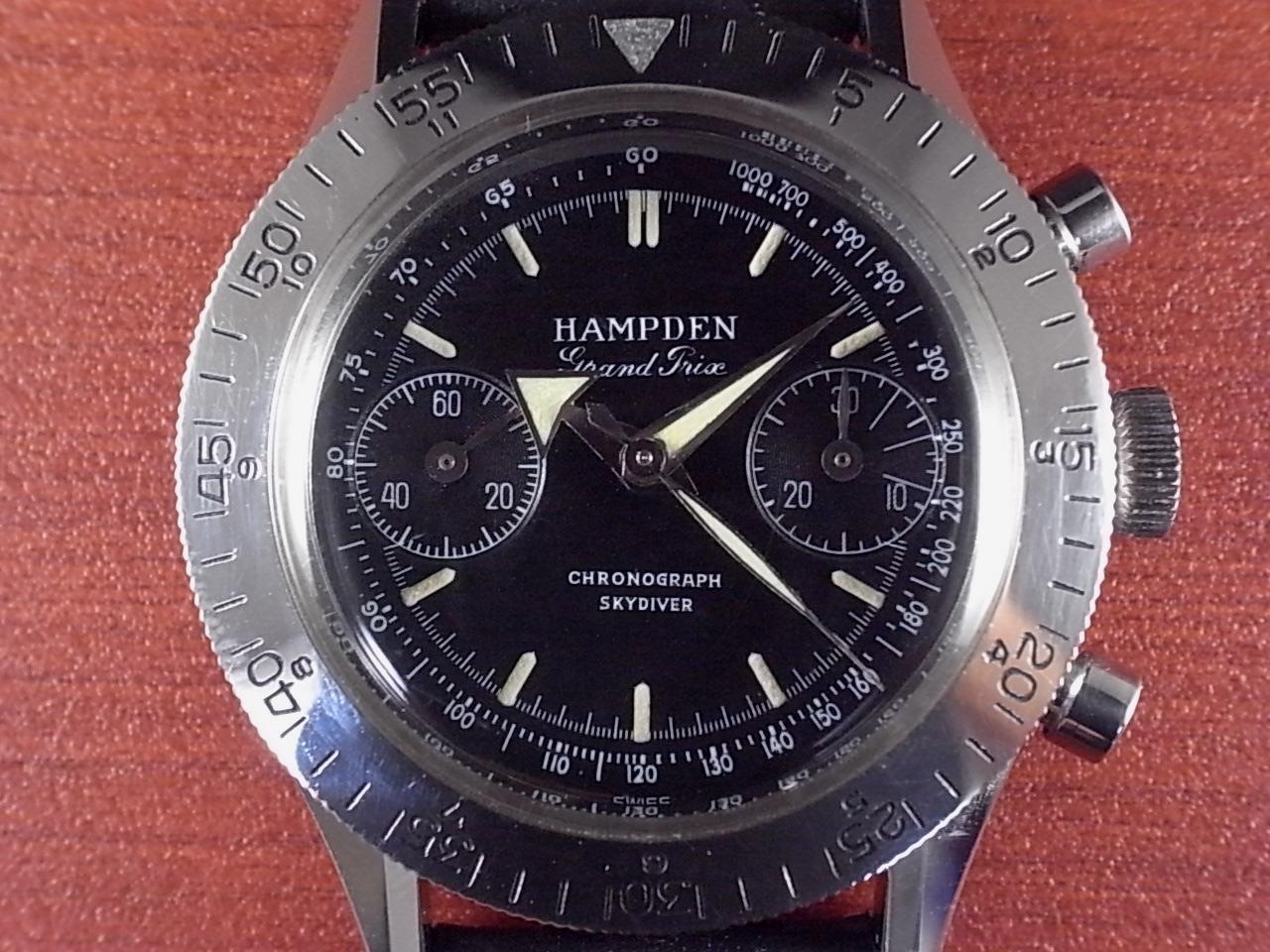ハンプデン グランプリ スカイダイバー クロノグラフ 1950年代の写真2枚目