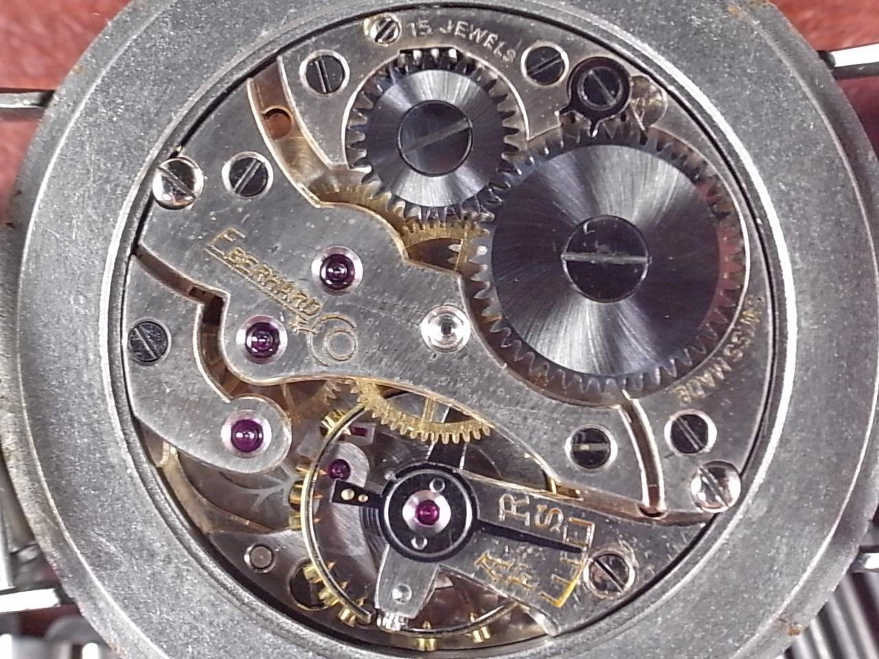 エベラール ピンクダイアル シリンダーケース ニアミント ボンクリップ付き 1940年代の写真5枚目