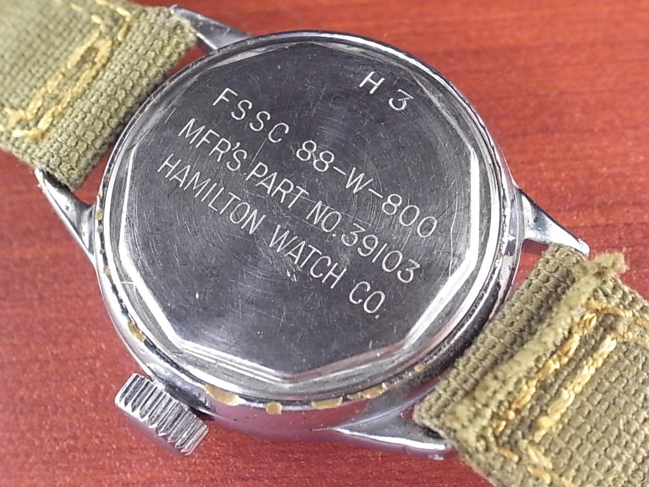 ハミルトン アメリカ海軍 FSSC 88-W-800 Cal.2987 ブラックダイアル 1940年代の写真4枚目