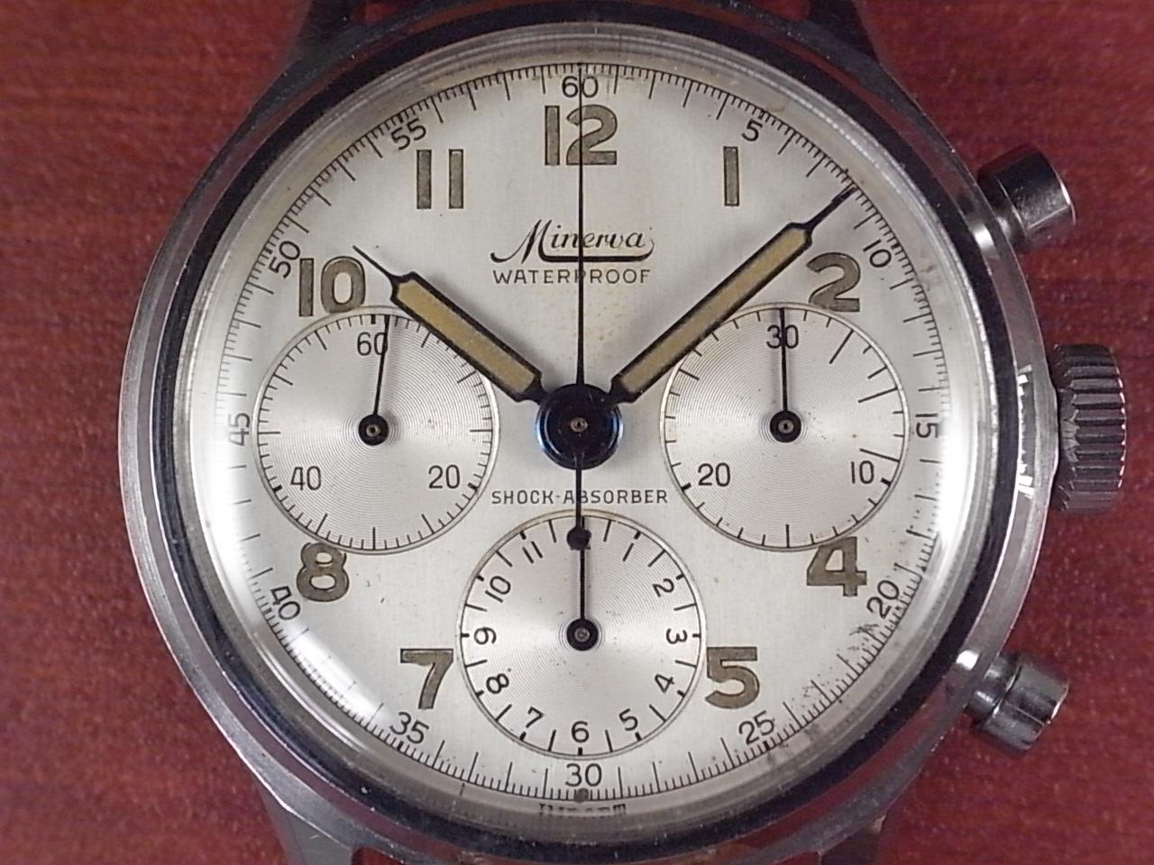 ミネルバ 3レジスタークロノグラフ バルジュー72 1950年代の写真2枚目