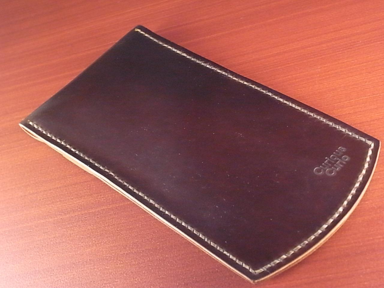 受注生産 高級時計ケース 1本入り携帯用 ホーウィン シェルコードバンの写真2枚目
