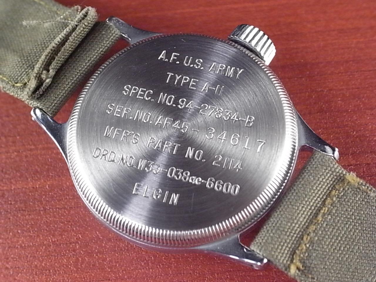 エルジン ミリタリー タイプA-11 アメリカ陸軍航空隊 24H時計 1940年代の写真4枚目