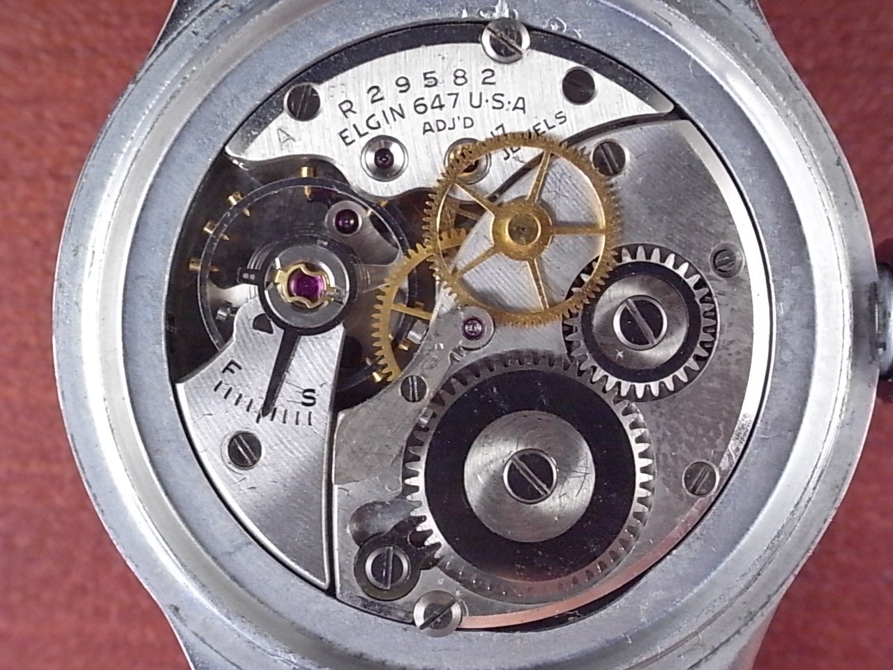 エルジン ミリタリー タイプA-11 アメリカ陸軍航空隊 24H時計 1940年代の写真5枚目
