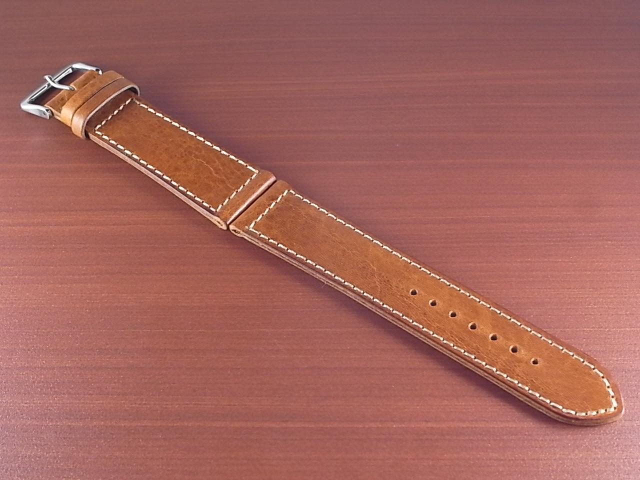 艶ありヌメ牛ステア 革ベルト ウィスキー 22mm CC-030a2のメイン写真