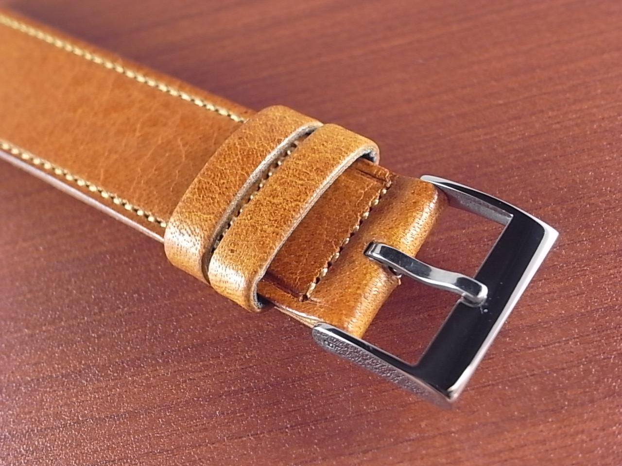 艶ありヌメ牛ステア 革ベルト ウィスキー 16mm CC-030aの写真3枚目