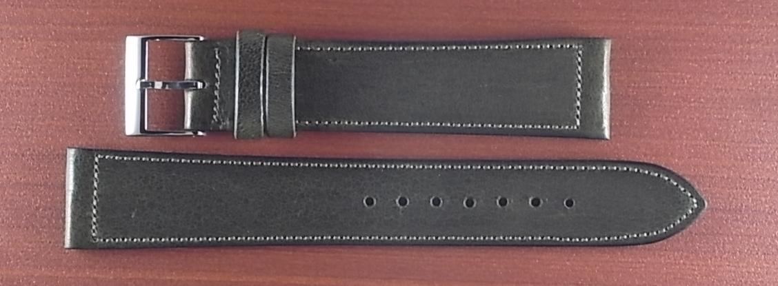 艶ありヌメ牛ステア 革ベルト オリーブ 16、17、18、19、20mm CC-032a