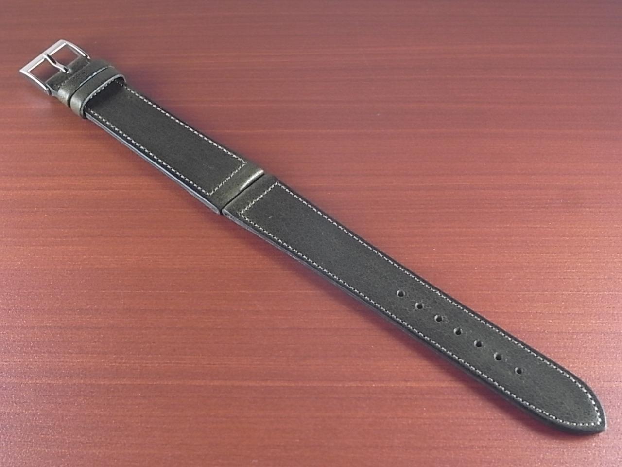 艶ありヌメ牛ステア 革ベルト オリーブ 16、17、18、19、20mm CC-032aのメイン写真