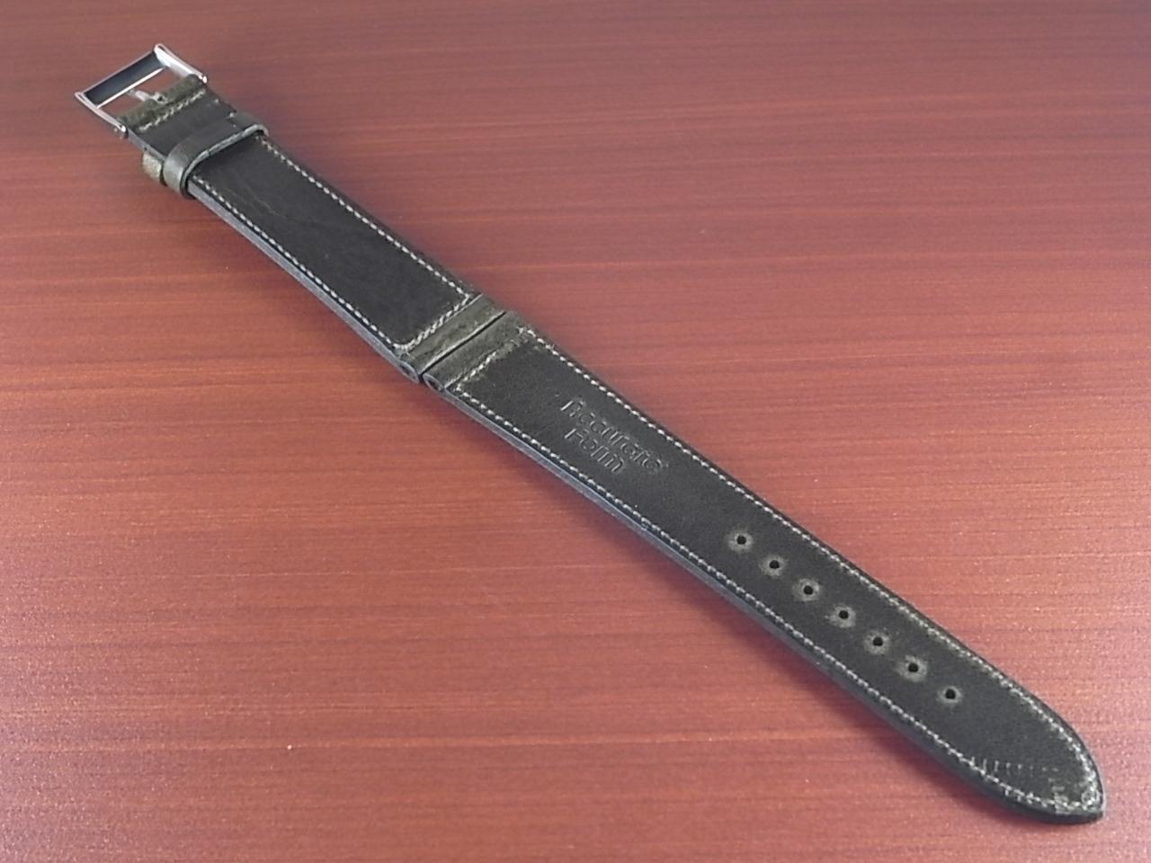 艶ありヌメ牛ステア 革ベルト オリーブ 16、17、18、19、20mm CC-032aの写真2枚目