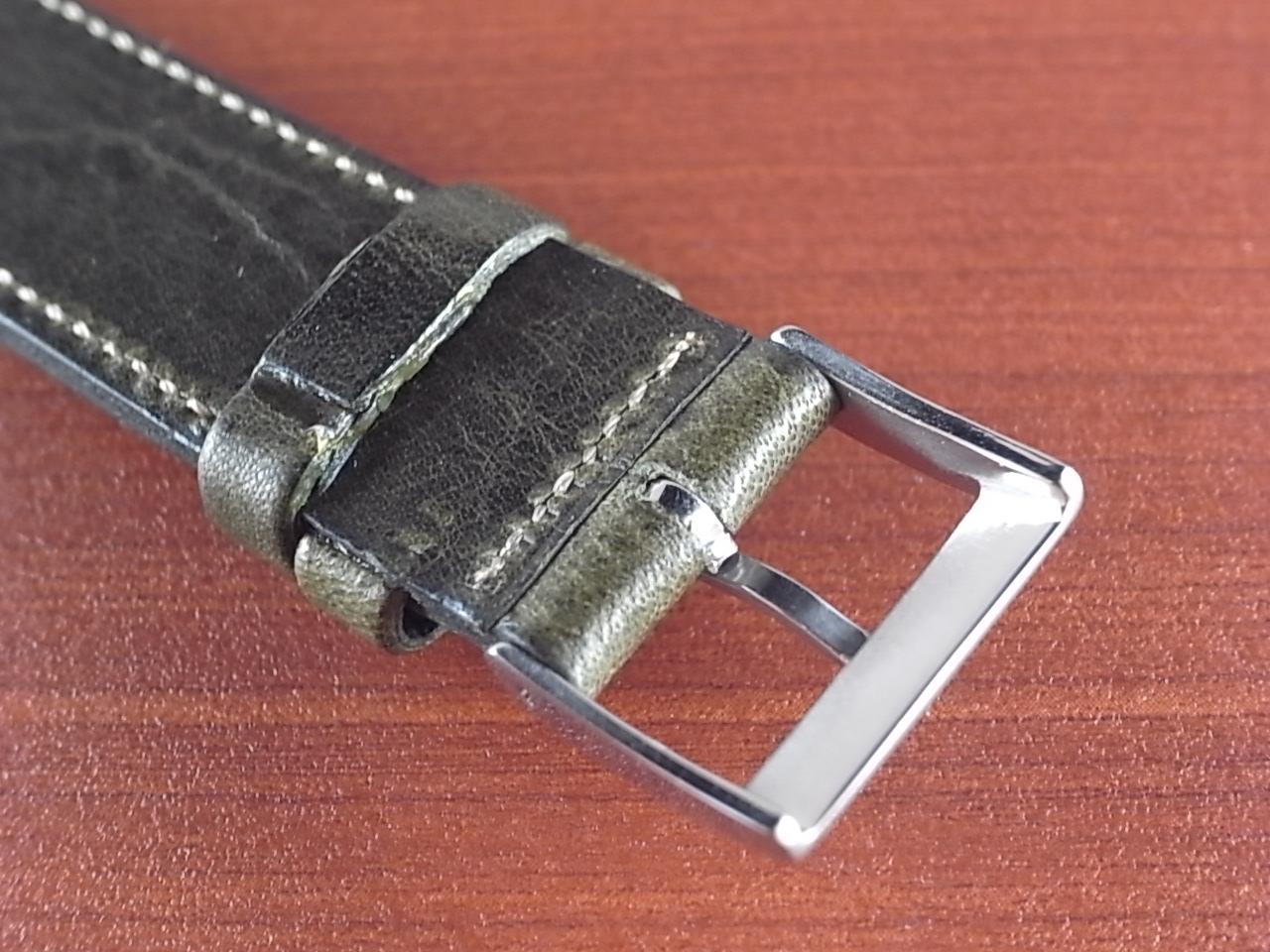 艶ありヌメ牛ステア 革ベルト オリーブ 16、17、18、19、20mm CC-032aの写真4枚目