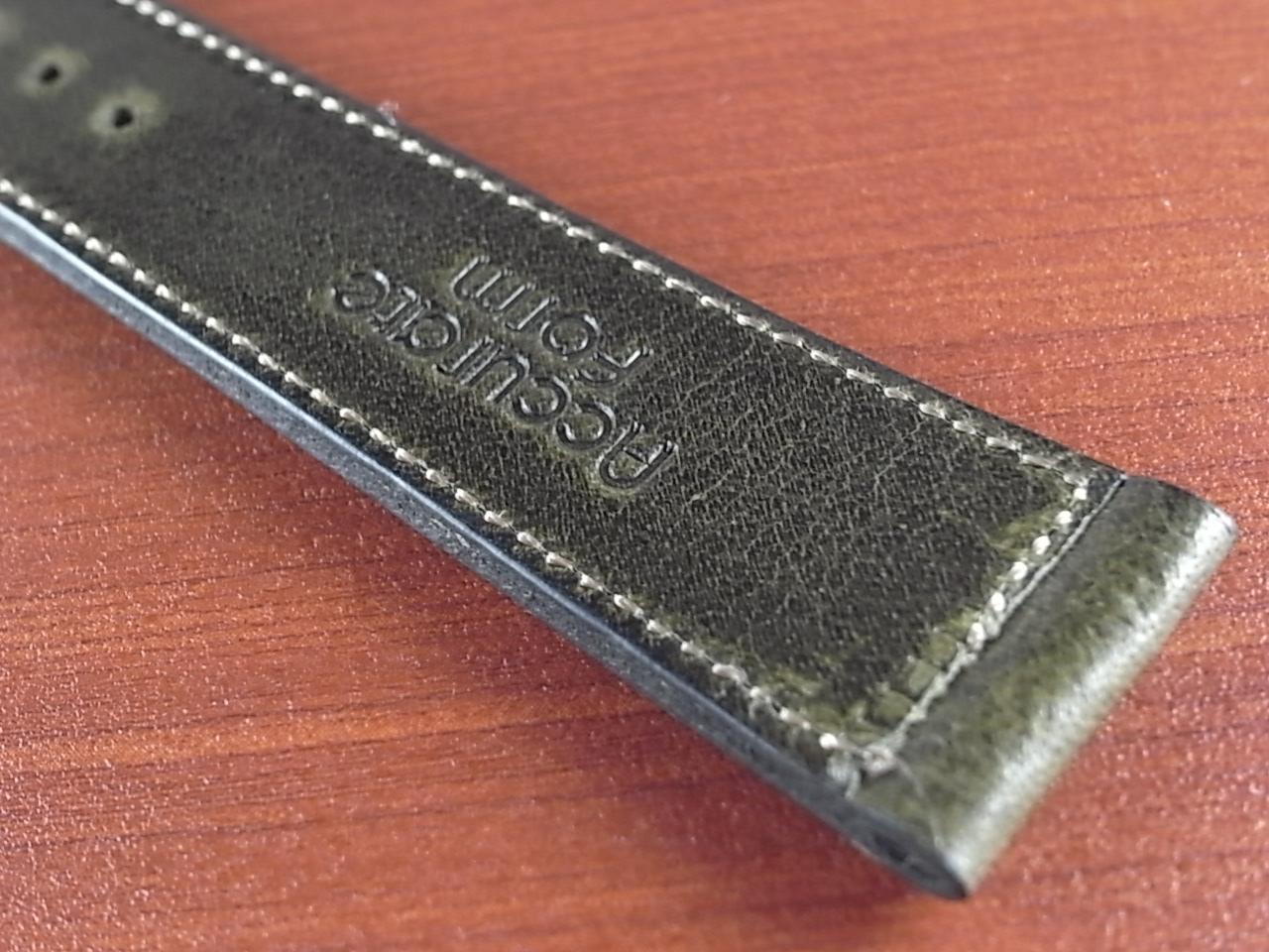 艶ありヌメ牛ステア 革ベルト オリーブ 16、17、18、19、20mm CC-032aの写真6枚目