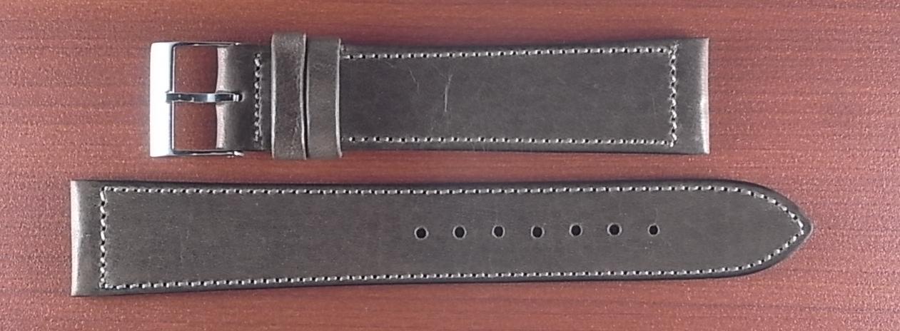 艶ありヌメ牛ステア 革ベルト グレーブラウン 16、17、18、19、20mm CC-033a