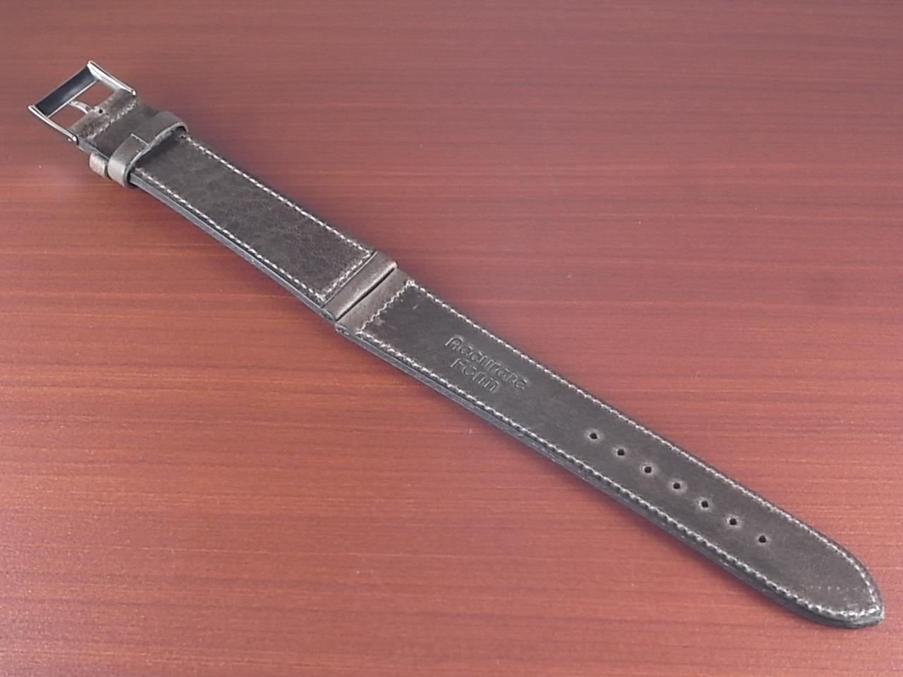艶ありヌメ牛ステア 革ベルト グレーブラウン 16、17、18、19、20mm CC-033aの写真2枚目