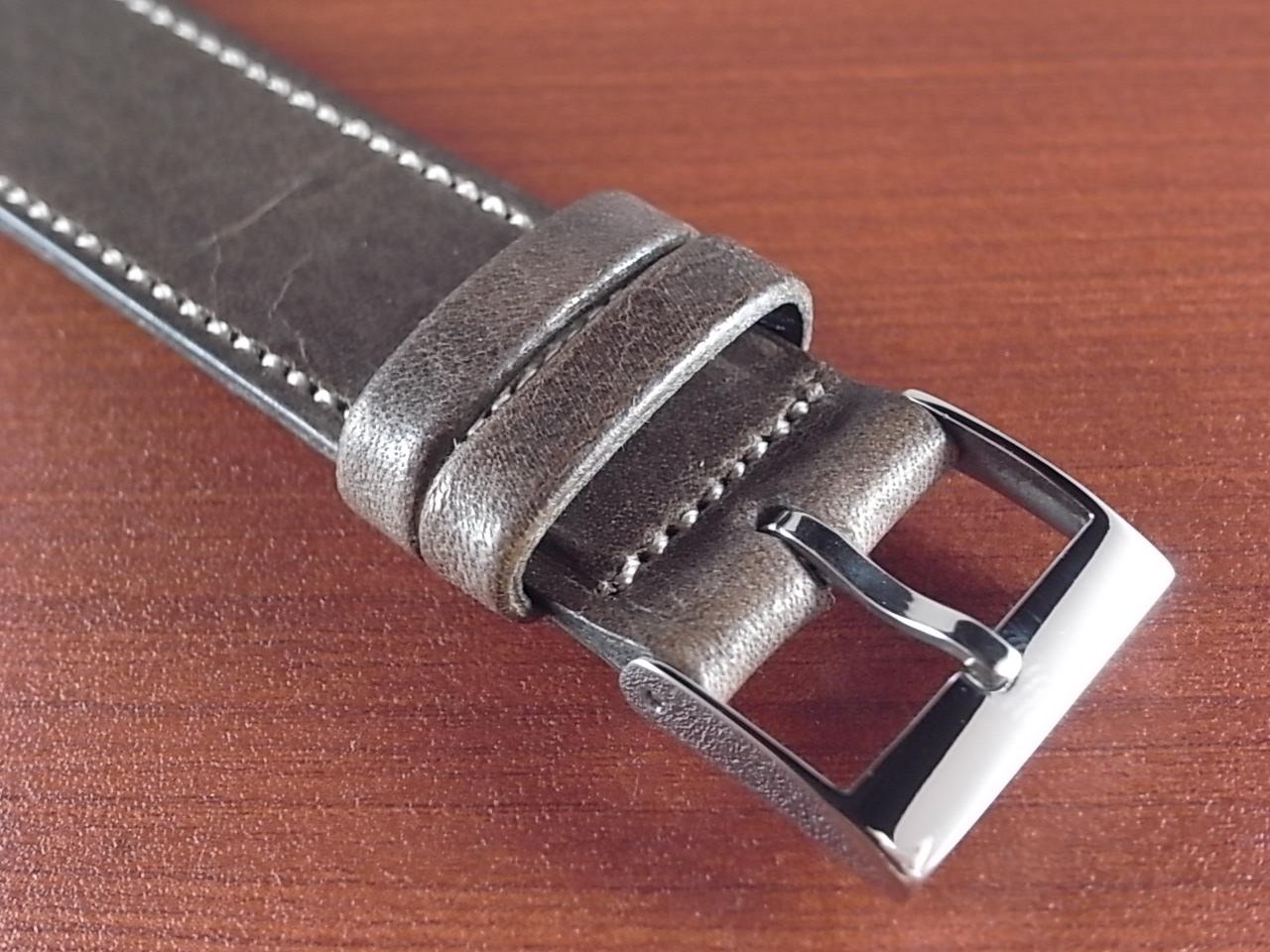 艶ありヌメ牛ステア 革ベルト グレーブラウン 16、17、18、19、20mm CC-033aの写真3枚目