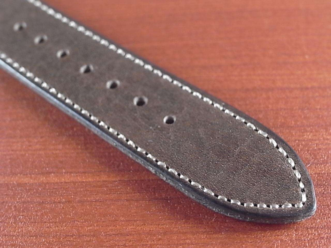 艶ありヌメ牛ステア 革ベルト グレーブラウン 16、17、18、19、20mm CC-033aの写真5枚目