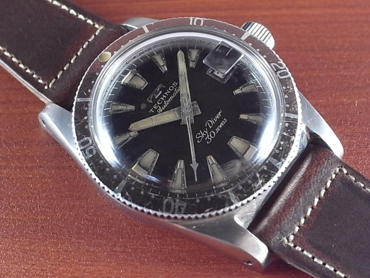 テクノス スカイダイバー トロピカルダイアル 30JEWELS 1960年代のメイン写真