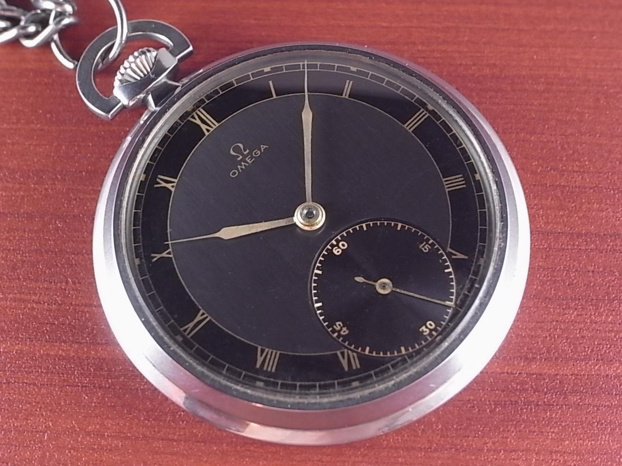 オメガ ポケットウォッチ ブラック/グレー 2トーンダイアル 1940年代のメイン写真
